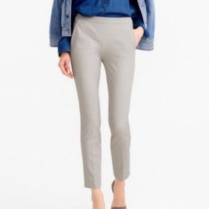 J crew Mattie grey no stretch career ankle pants